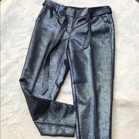 LOFT Pants - LOFT Black & Silver Metallic Pants